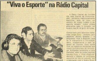 Jorge Cury Neto, Jota Palhares e Euripedes Smaniotto. 1986