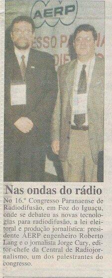 Presidente da AERP e um dos palestrante do congresso - 1996