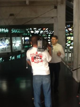 Entrevista concedida a TV Canção Nova no Museu do Futebol