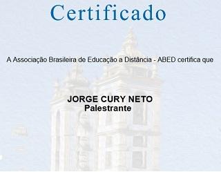 Certificado de participação no Congresso Internacional de EaD em Salvador