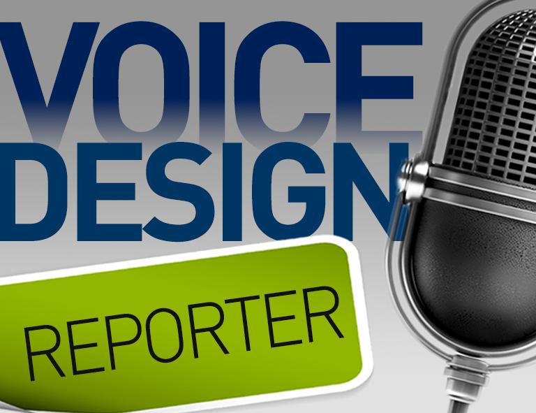 microfone VOICE DESIGN REPORTER