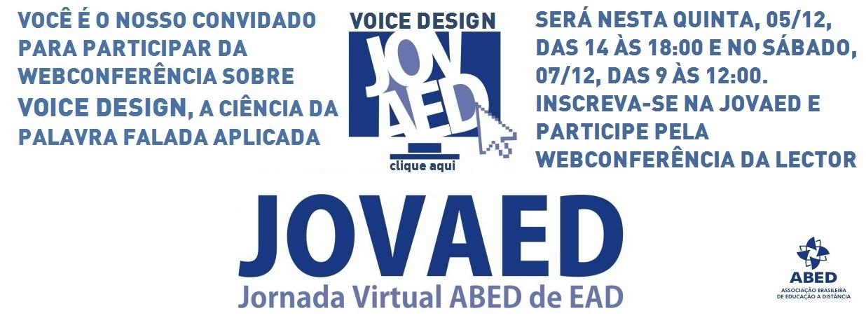 Jornada Virtual da ABED promove Webconferência sobre Voice Design na EAD