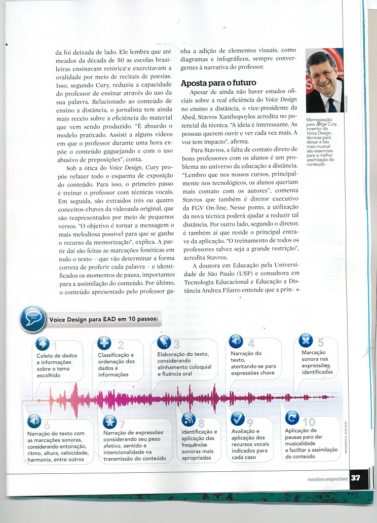 Revista Ensino Superior destaca o Voice Design