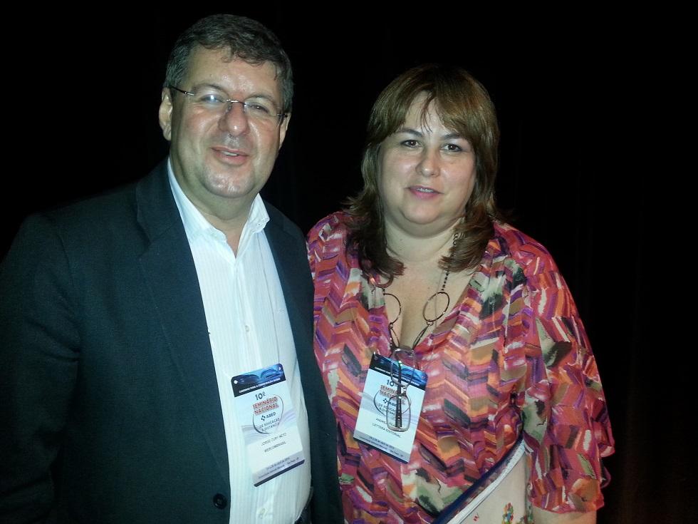Jorge Cury Neto com Andrea Filatro