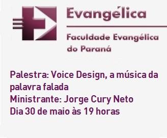 Faculdade Evangélica do Paraná promove palestra sobre Voice Design