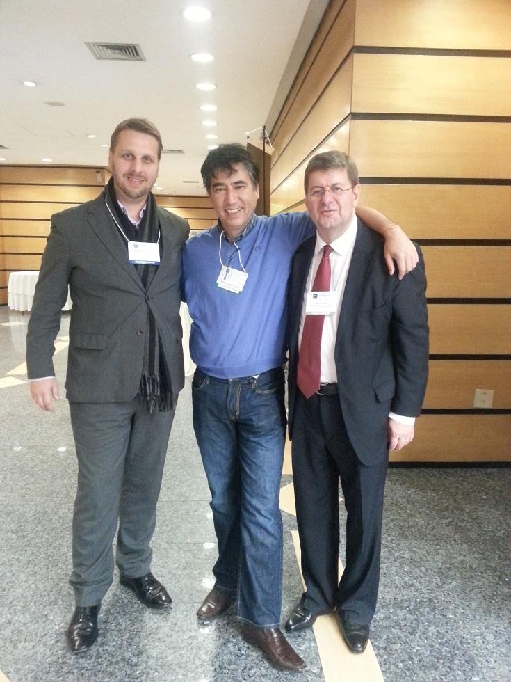 Kanno e Schmokel prestigiam palestra de Cury no Congresso Anual de Comunicação Interna