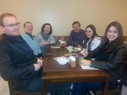 Alexandre Salvador, Helena Salvador, Lorena Cury, Jorge Cury , Alessandra Cury e Caroline Cury Braga