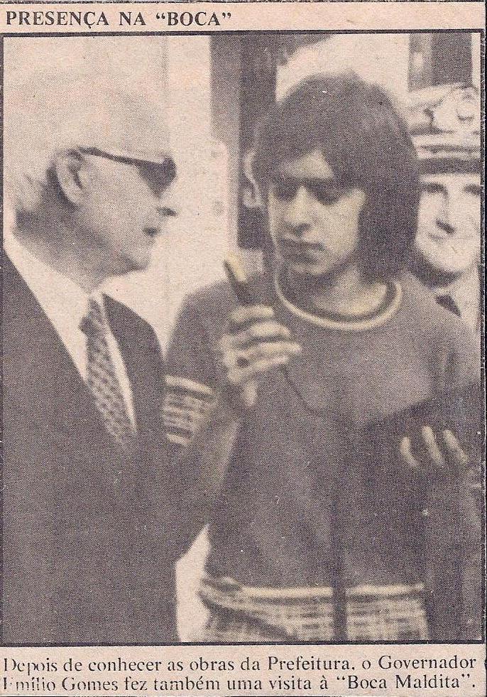 Visita do Governador Emilio Hofmann Gomes à `Boca Maldita` – novembro de 1973