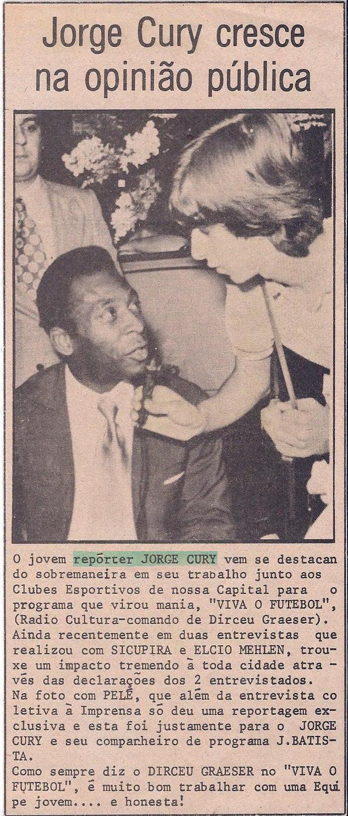 Primeira entrevista com Pelé – Lojas HM em Curitiba – junho de 1974