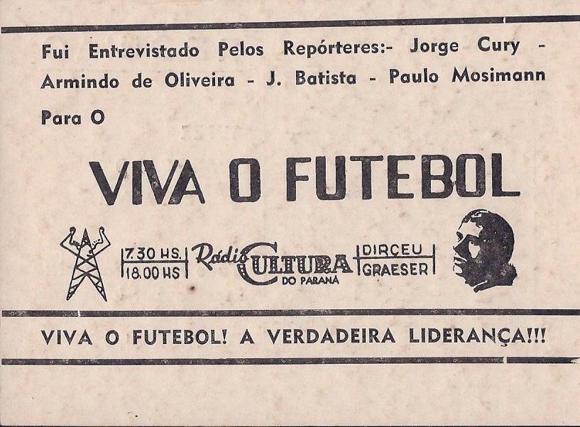 Programa Domingo Alegre de Mário Vendramel – Canal 12 – TV Paranaense – Março de 1975