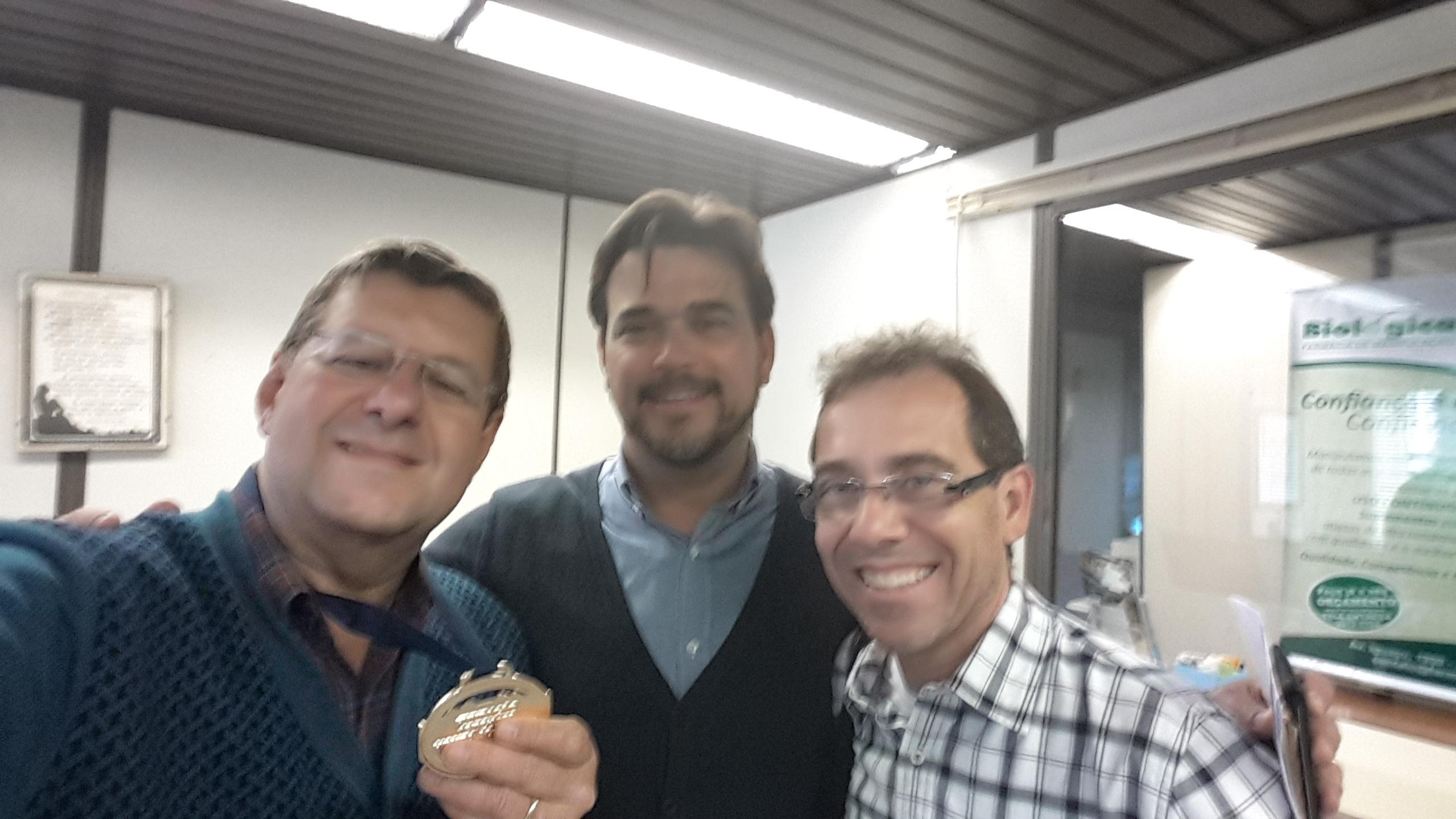 Jorge Cury Neto, presidente da ABRTC Evandro Arruda e Alexandre Santos