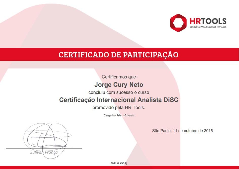 certificadodisc