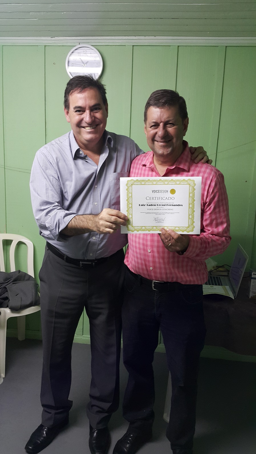 Entrega de Certificado do Curso Voice Design Coaching – Turma 02