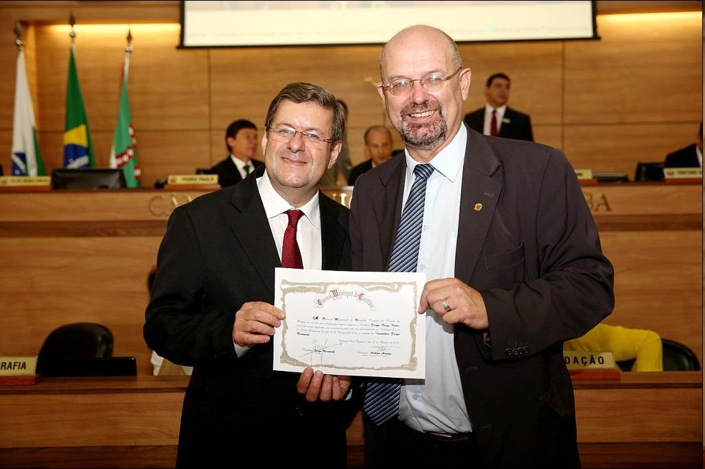 Jorge Cury Neto e vereador Jorge Bernardi