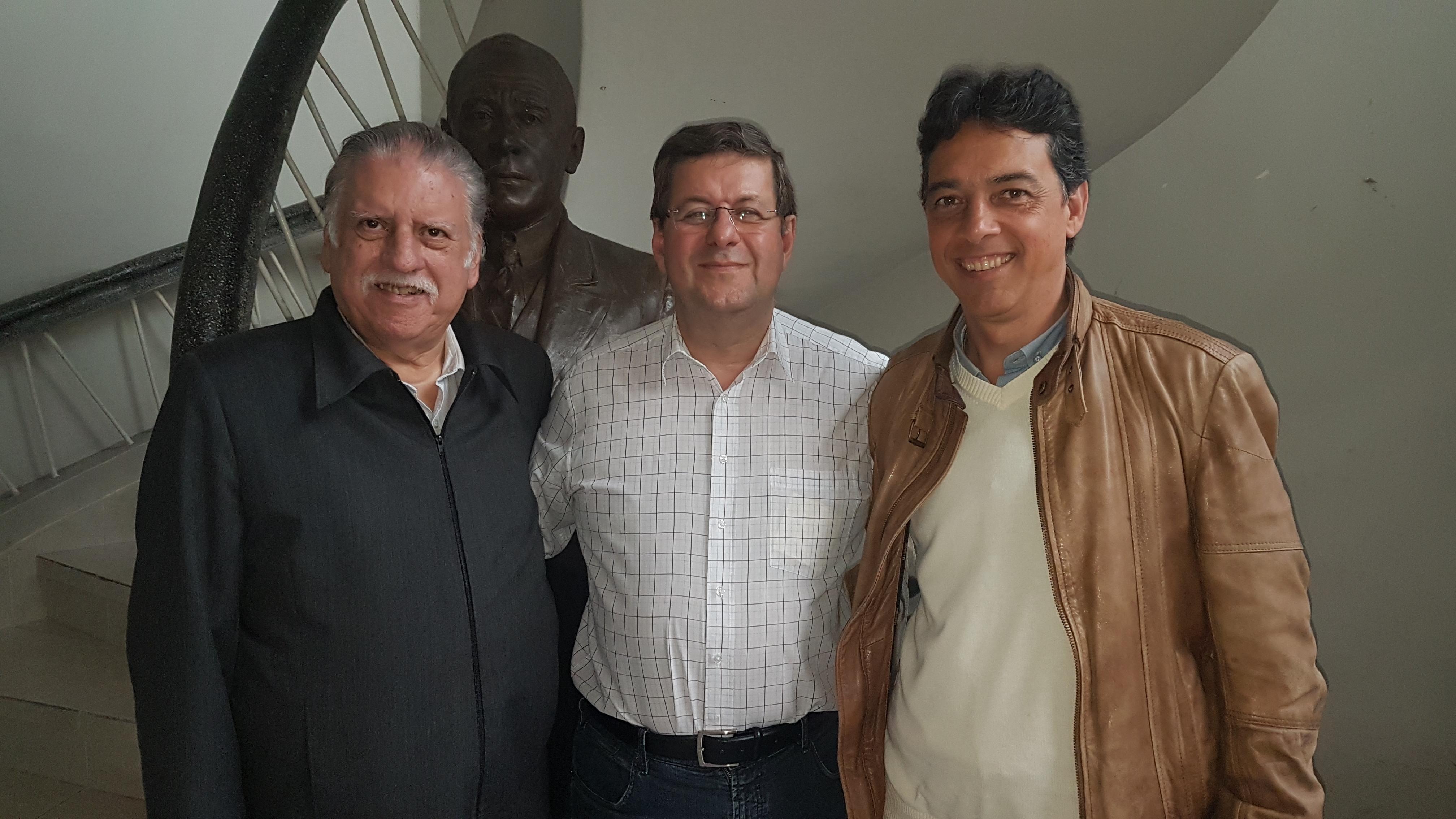 Presidente Ney Perracini de Azevedo, Jorge Cury Neto e Eduardo Manoel Araújo