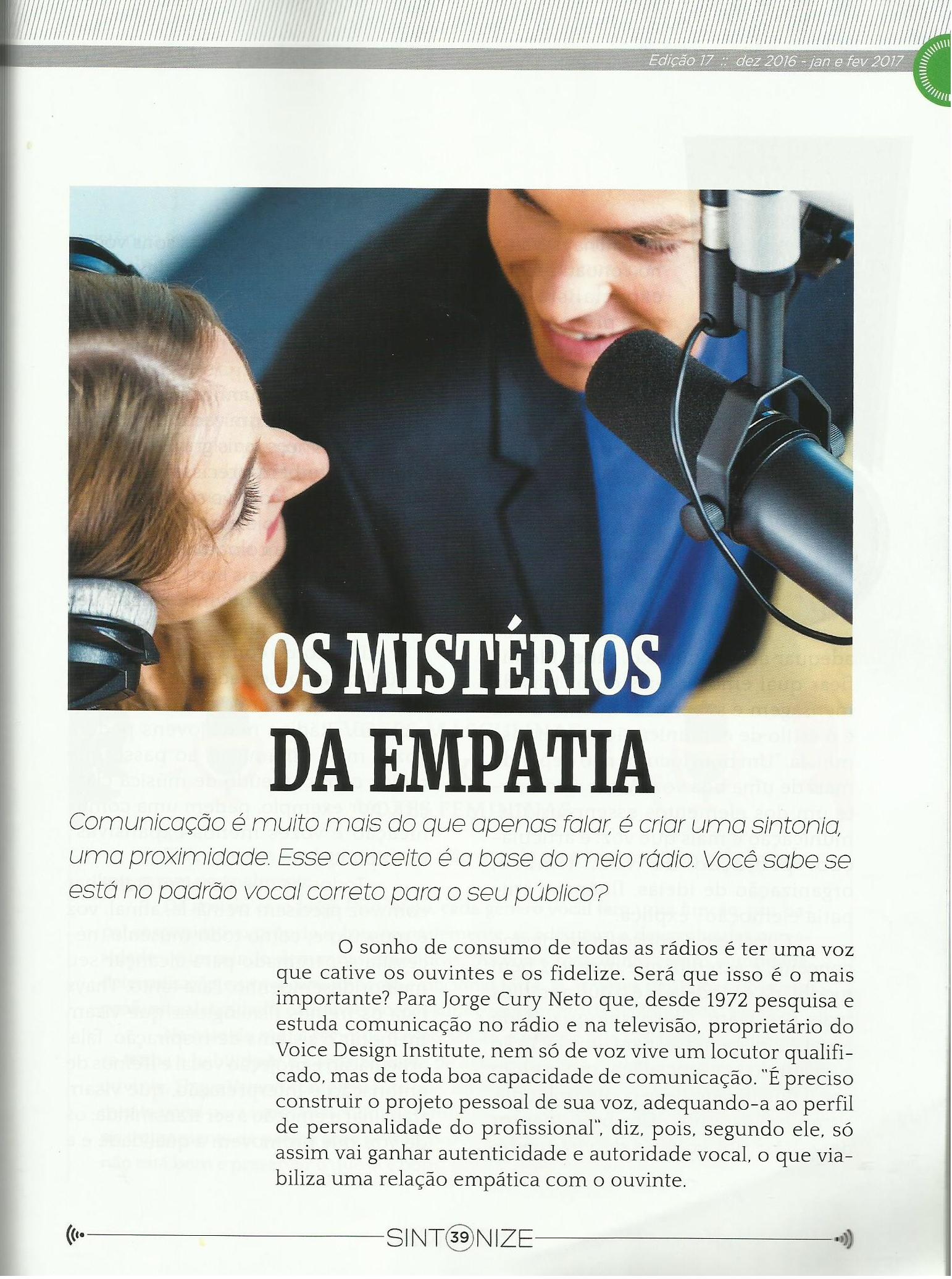 Revista da AERP: Os mistérios da empatia