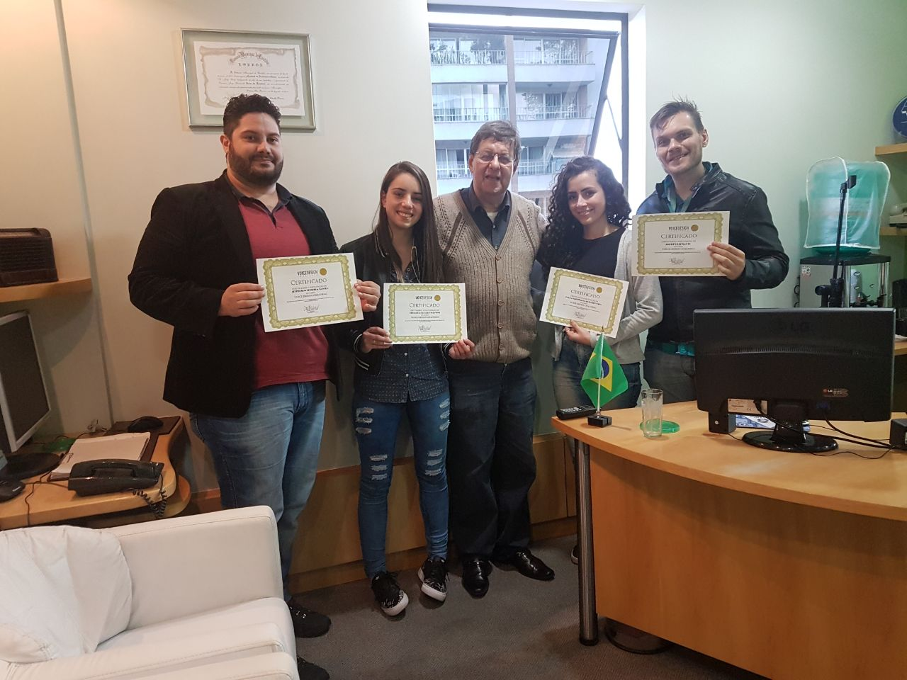 Jefferson Xavier, Eduarda Martins, Jorge Cury Neto, Karla Cristina Silveira e André Santi